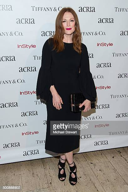 Actress Julianne Moore attend ACRIA's 20th Anniversary Holiday Dinner at The Cunard Building on December 10 2015 in New York City