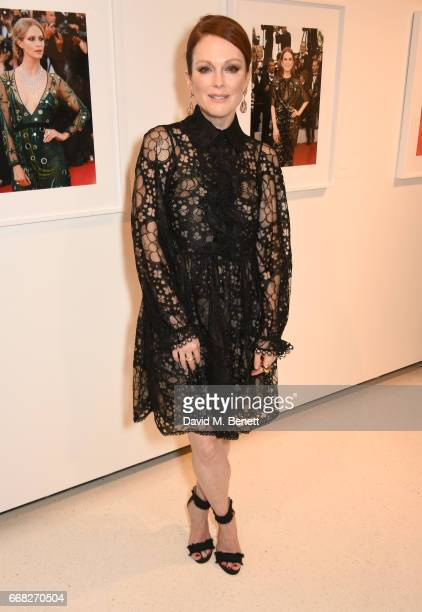 Actress Julianne Moore attends as Vogue Chopard open Glittering Prizes a photo exhibition by Ivan Shaw celebrating 70 years of the red carpet at the...