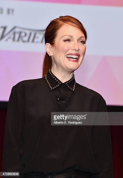 Actress Julianne Moore attends CinemaCon's final day luncheon and special presentation at Caesars Palace during CinemaCon, the official convention of...