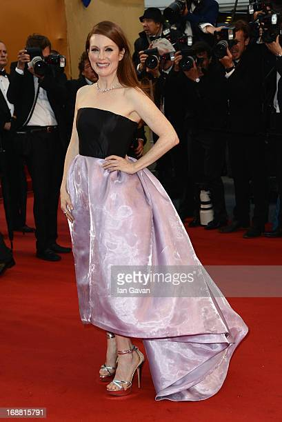 Actress Julianne Moore attends Electrolux at Opening Night of The 66th Annual Cannes Film Festival at the Theatre Lumiere on May 15 2013 in Cannes...