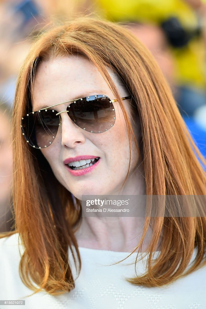 Actress Julianne Moore attends Giffoni Film Festival 2017 Day 3 Blue Carpet on July 16, 2017 in Giffoni Valle Piana, Italy.