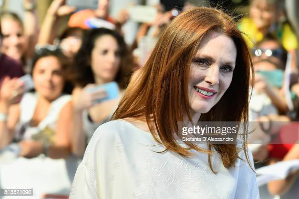 Actress Julianne Moore attends Giffoni Film Festival 2017 Day 3 Blue Carpet on July 16 2017 in Giffoni Valle Piana Italy