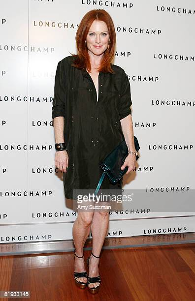 Actress Julianne Moore attends Longchamp's 60th Anniversary celebration at La Maison Unique Longchamp on July 14 2008 in New York City