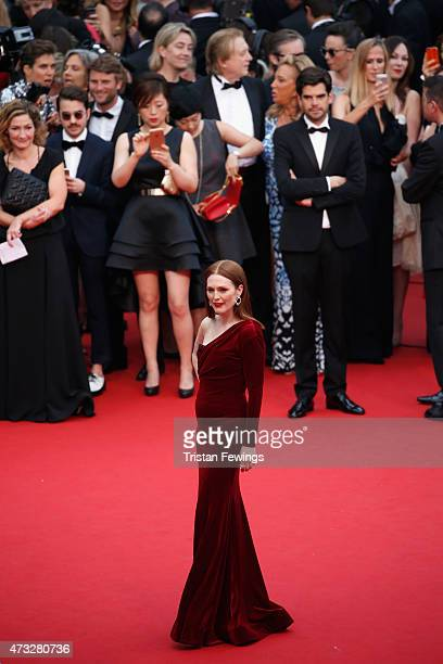 Actress Julianne Moore attends Premiere of Mad Max Fury Road during the 68th annual Cannes Film Festival on May 14 2015 in Cannes France