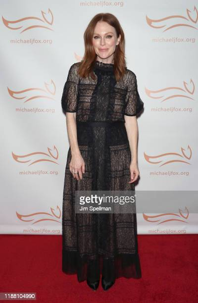 Actress Julianne Moore attends the 2019 A Funny Thing Happened On The Way To Cure Parkinson's at the Hilton New York on November 16, 2019 in New York...