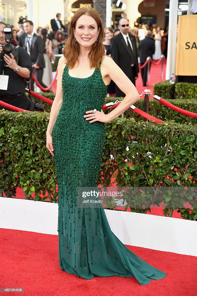 Actress Julianne Moore attends the 21st Annual Screen Actors Guild Awards at The Shrine Auditorium on January 25, 2015 in Los Angeles, California.