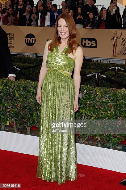 Actress Julianne Moore attends the 22nd Annual Screen Actors Guild Awards at The Shrine Auditorium on January 30 2016 in Los Angeles California