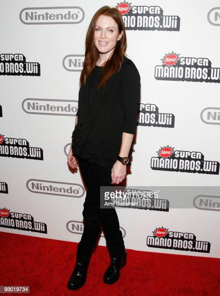 Actress Julianne Moore attends the 25 years of Mario celebration at the Nintendo World Store on November 12 2009 in New York City