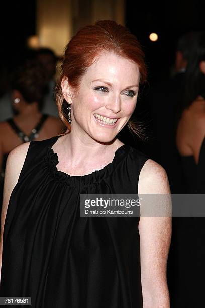 Actress Julianne Moore attends the 3rd Annual Museum of the Moving Image Black Tie Salute Honoring Tom Cruise at Cipriani's 42nd Street location on...