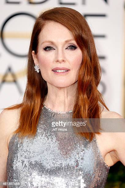 Actress Julianne Moore attends the 72nd Annual Golden Globe Awards at The Beverly Hilton Hotel on January 11 2015 in Beverly Hills California