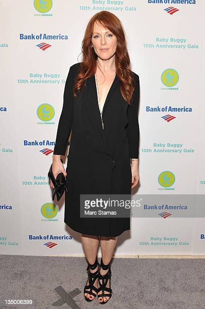 Actress Julianne Moore attends the Baby Buggy 10th Anniversary gala at Avery Fisher Hall, Lincoln Center on December 5, 2011 in New York City.