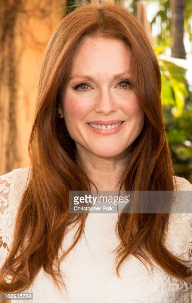 Actress Julianne Moore attends the Carrie Photo Call at The 5th Annual Summer Of Sony at the Ritz Carlton Hotel on April 18 2013 in Cancun Mexico