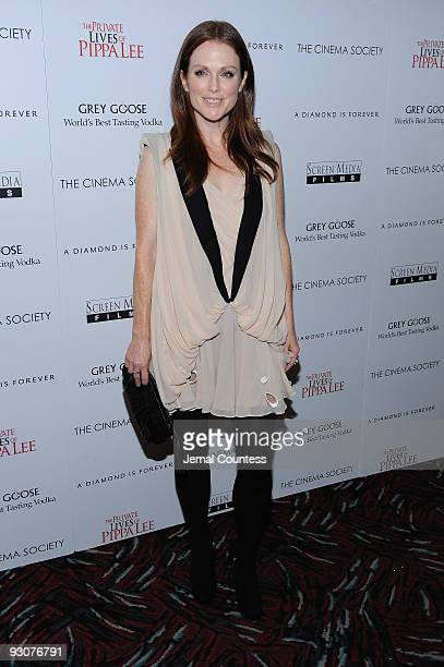 Actress Julianne Moore attends The Cinema Society A Diamond is Forever screening of The Private Lives of Pippa Lee at AMC Loews 19th Street on...
