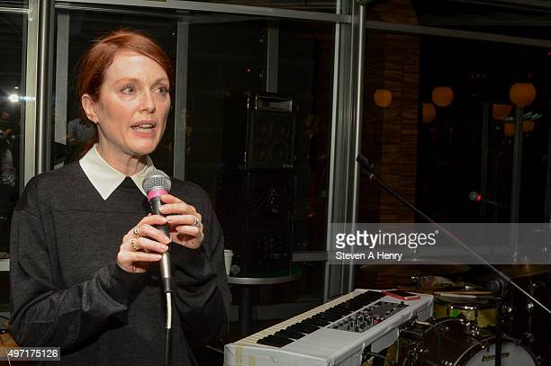 Actress Julianne Moore attends the Circle of Health International Fundraiser at McCarren Park on November 14 2015 in New York City
