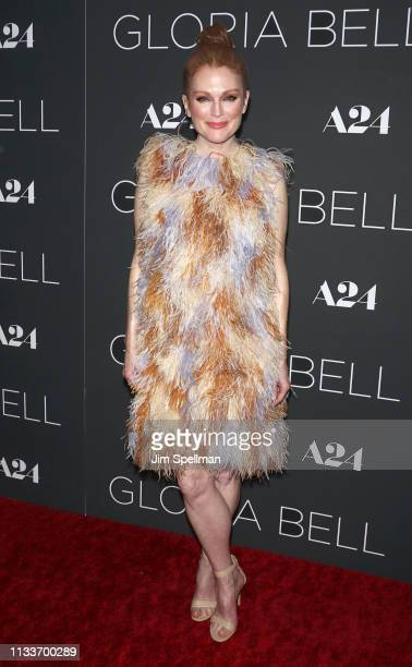 Actress Julianne Moore attends the Gloria Bell New York screening at Museum of Modern Art on March 04 2019 in New York City