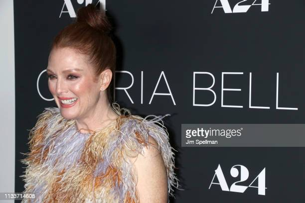 Actress Julianne Moore attends the 'Gloria Bell' New York screening at Museum of Modern Art on March 04 2019 in New York City