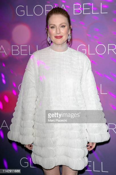 """Actress Julianne Moore attends the """"Gloria Bell"""" Premiere At Cinema Gaumont Opera Capucines on April 15, 2019 in Paris, France."""