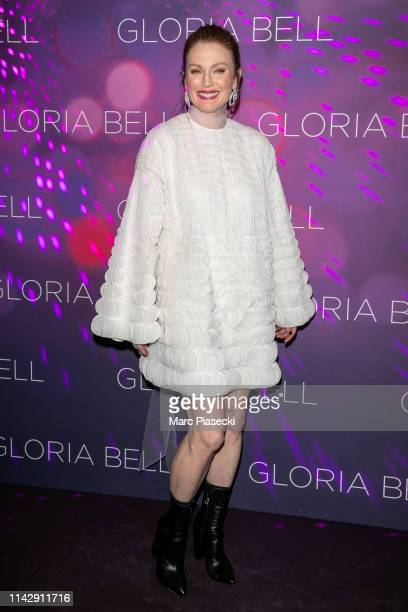 Actress Julianne Moore attends the Gloria Bell Premiere At Cinema Gaumont Opera Capucines on April 15 2019 in Paris France