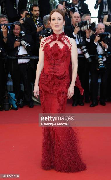 Actress Julianne Moore attends the 'Ismael's Ghosts ' screening and Opening Gala during the 70th annual Cannes Film Festival at Palais des Festivals...