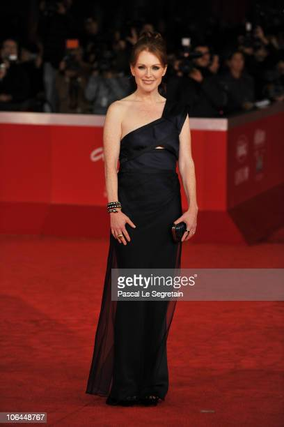 Actress Julianne Moore attends The Kids Are All Right premiere during the 5th International Rome Film Festival at Auditorium Parco Della Musica on...