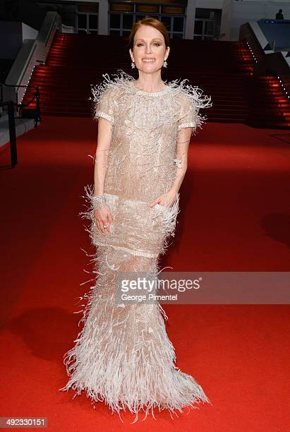 """Actress Julianne Moore attends the """"Maps To The Stars"""" Premiere at the 67th Annual Cannes Film Festival on May 19, 2014 in Cannes, France."""
