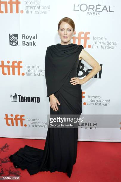 Actress Julianne Moore attends the Maps To The Stars premiere during the 2014 Toronto International Film Festival at Roy Thomson Hall on September 9...