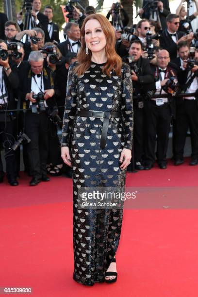 Actress Julianne Moore attends the Okja screening during the 70th annual Cannes Film Festival at Palais des Festivals on May 19 2017 in Cannes France