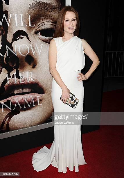 Actress Julianne Moore attends the premiere of Carrie at ArcLight Hollywood on October 7 2013 in Hollywood California