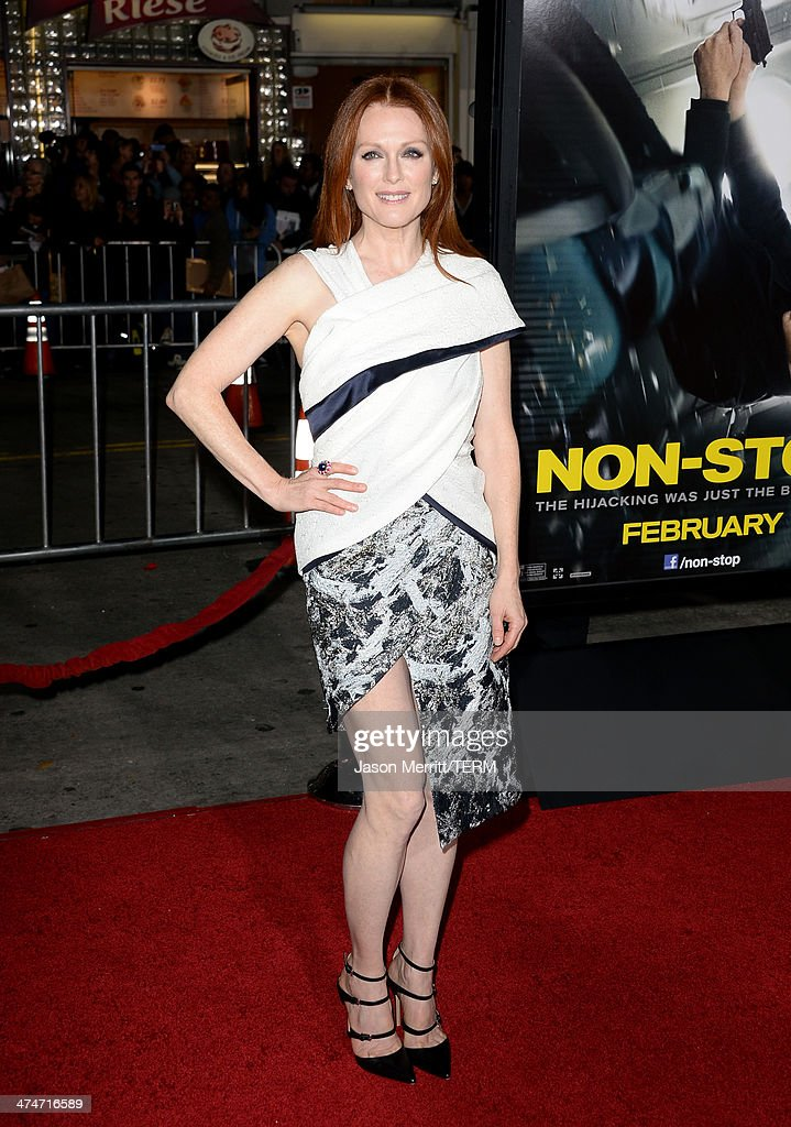 Actress Julianne Moore attends the premiere of Universal Pictures and Studiocanal's 'Non-Stop' at Regency Village Theatre on February 24, 2014 in Westwood, California.