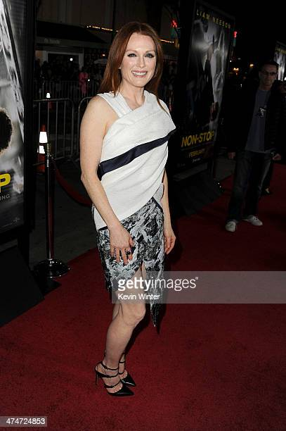 """Actress Julianne Moore attends the premiere of Universal Pictures and Studiocanal's """"Non-Stop"""" at Regency Village Theatre on February 24, 2014 in..."""