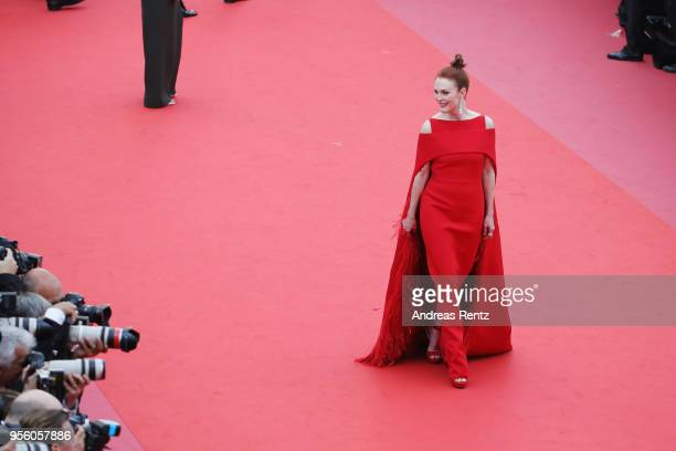 Actress Julianne Moore attends the screening of 'Everybody Knows ' and the opening gala during the 71st annual Cannes Film Festival at Palais des...