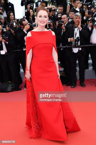 """Actress Julianne Moore attends the screening of """"Everybody Knows """" and the opening gala during the 71st annual Cannes Film Festival at Palais des..."""