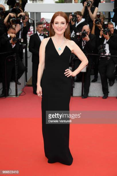 Actress Julianne Moore attends the screening of Yomeddine during the 71st annual Cannes Film Festival at Palais des Festivals on May 9 2018 in Cannes...