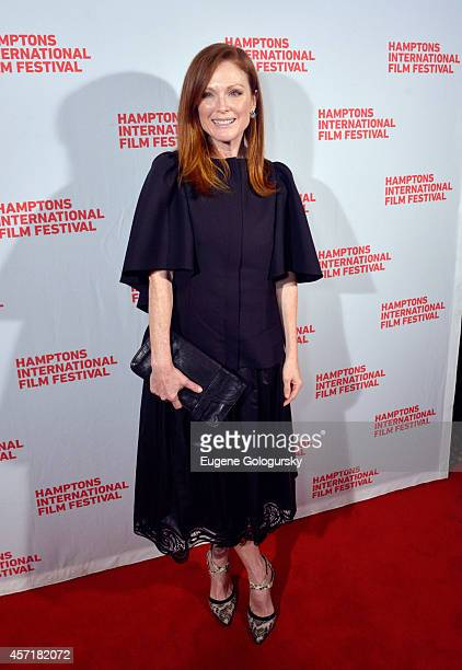 Actress Julianne Moore attends the Still Alice premiere during the 2014 Hamptons International Film Festival on October 13 2014 in East Hampton New...