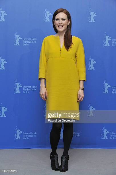 Actress Julianne Moore attends the 'The Kids Are All Right' Photocall during day seven of the 60th Berlin International Film Festival at the Grand...