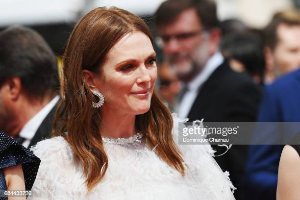 Actress Julianne Moore attends the 'Wonderstruck' screening during the 70th annual Cannes Film Festival at Palais des Festivals on May 18 2017 in...