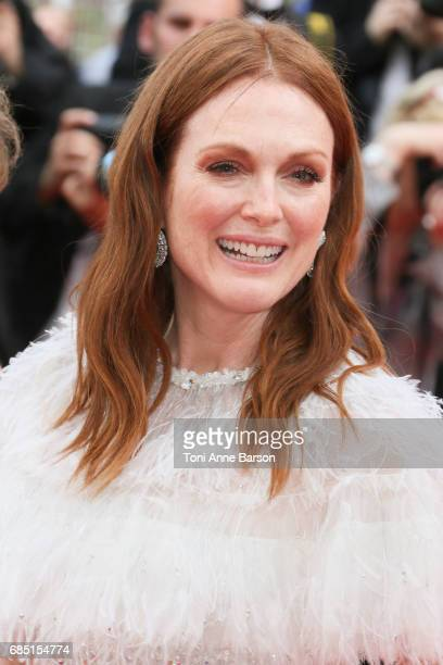 Actress Julianne Moore attends the 'Wonderstruck ' screening during the 70th annual Cannes Film Festival at Palais des Festivals on May 18 2017 in...