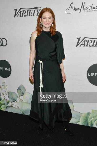 Actress Julianne Moore attends Variety's Power Of Women: New York at Cipriani Midtown on April 05, 2019 in New York City.