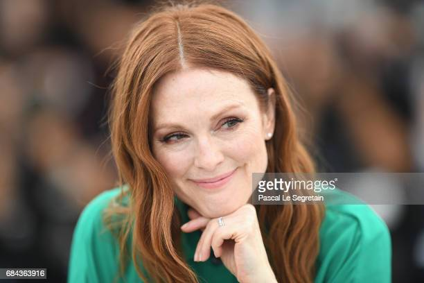 """Actress Julianne Moore attends """"Wonderstruck"""" Photocall during the 70th annual Cannes Film Festival at Palais des Festivals on May 18, 2017 in..."""