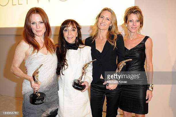 Actress Julianne Moore, casting director Bonnie Timmerman, actress Robin Wright, and ELLE Editor In-Chief Roberta Myers attend the 16th Annual ELLE...
