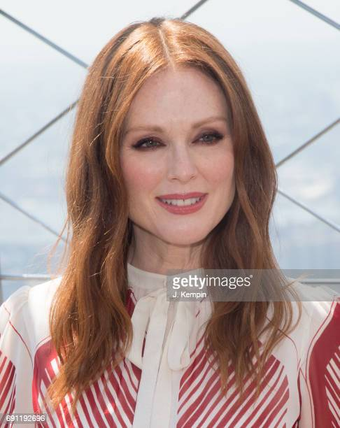 Actress Julianne Moore honors National Gun Violence Awareness Day at The Empire State Building on June 1 2017 in New York City