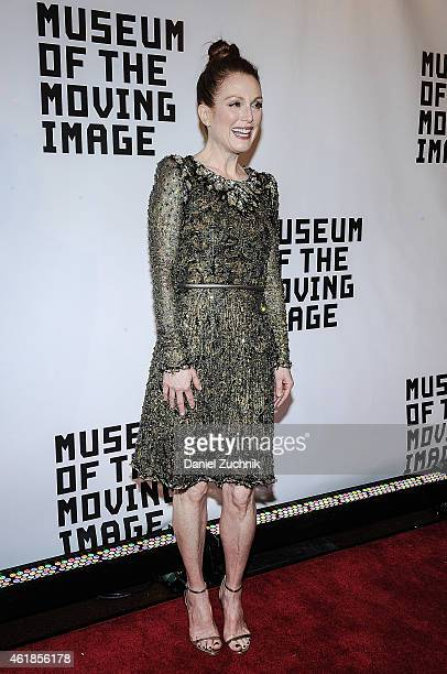 Actress Julianne Moore is honored by The Museum Of The Moving Image at 583 Park Avenue on January 20 2015 in New York City