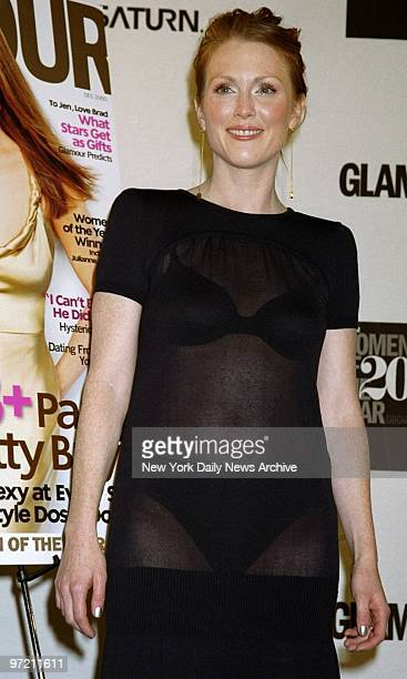 """Actress Julianne Moore is on hand at the Glamour Women of the Year 2000 Awards at the Metropolitan Museum. She received her """"Glammy"""" award for..."""