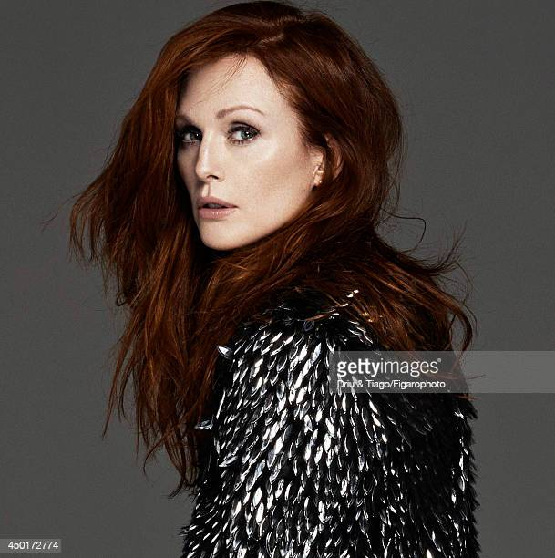 Actress Julianne Moore is photographed for Madame Figaro on February 17 2014 in Paris France Jacket Makeup by L'Oreal Paris CREDIT MUST READ Driu...