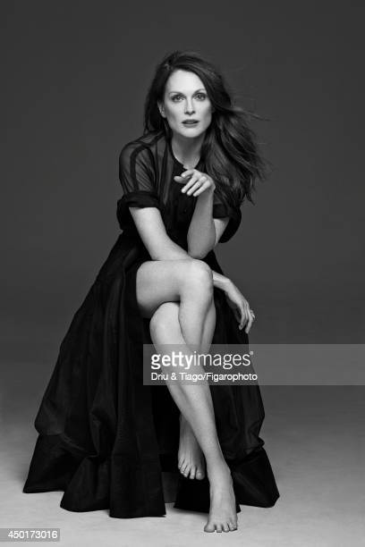 Actress Julianne Moore is photographed for Madame Figaro on February 17, 2014 in Paris, France. Dress , ring . Make-up by L'Oreal Paris. CREDIT MUST...