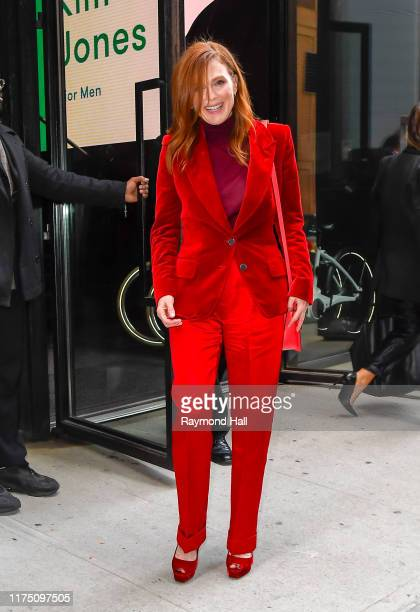 Actress Julianne Moore is seen in SoHo on October 10, 2019 in New York City.