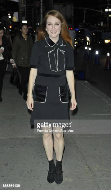 Actress Julianne Moore is seen on October 26 2017 in New York City