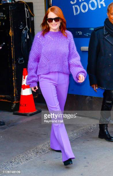 Actress Julianne Moore is seen outside Good Morning America on March 5 2019 in New York City