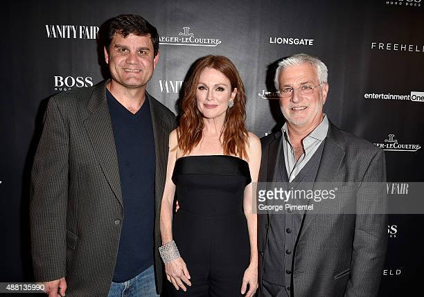 Actress Julianne Moore Lionsgate Motion Picture Group CoChair Rob Friedman and guest attend the Vanity Fair toast of 'Freeheld' at TIFF 2015...