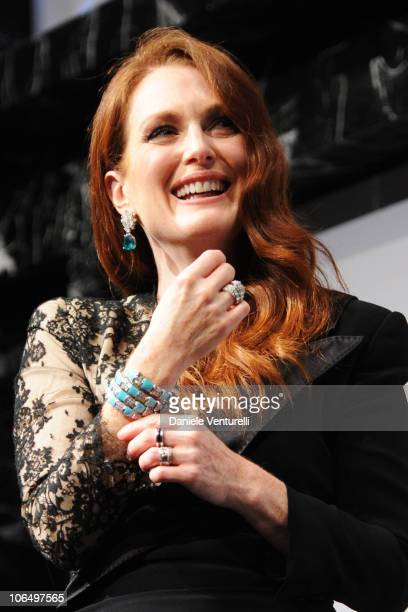 Actress Julianne Moore onstage at The Bulgari Express for Save The Children Dinner and Auction Party at the Salone delle Fontane on November 3 2010...